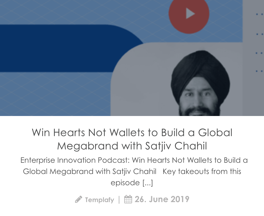 Screenshot of blogpost about podcast with Satjiv Chahil