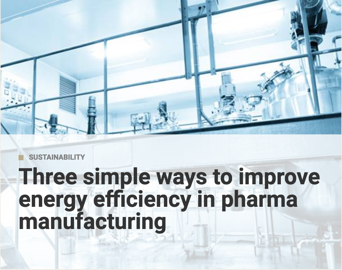 Link to article on improving energy efficiency in pharma manufacturing